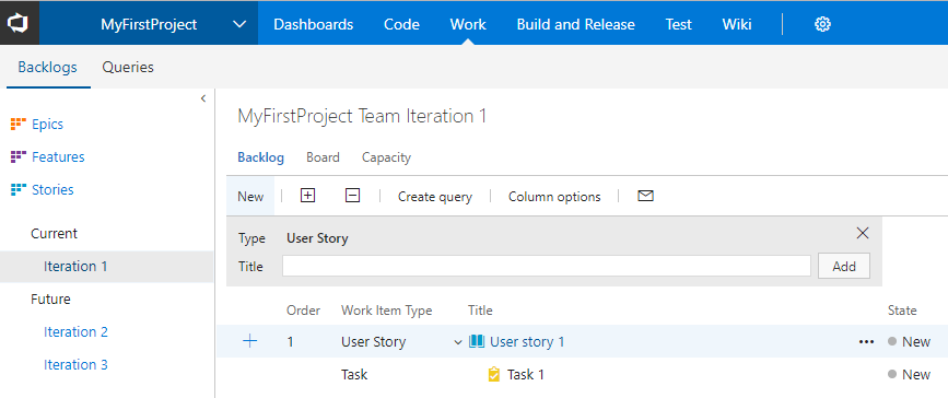 VSTS screenshot