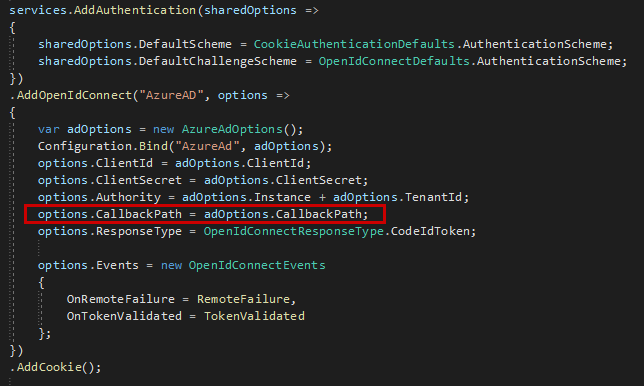 Configuration settings in .NET Core